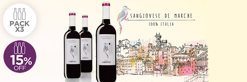 Pack x 3: Montereale Sangiovese 2016 Marche IGT