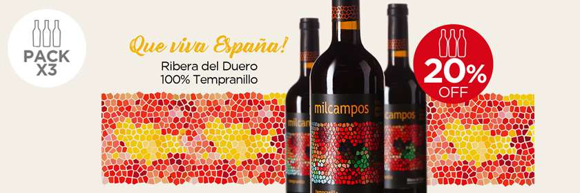 pack x 3: Milcampos Tempranillo 2014