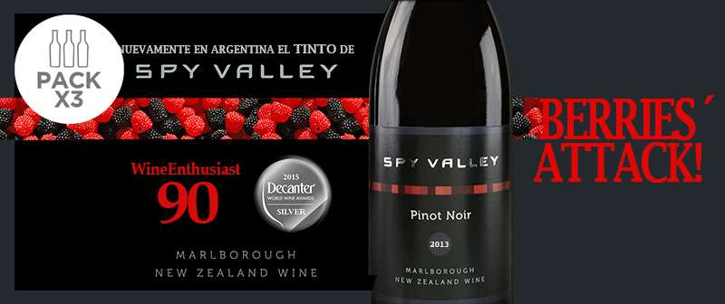 Pack x 3: Spy Valley Pinot Noir 2013